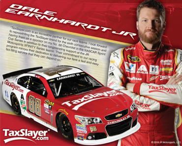 FREE 2016 TaxSlayer Racing Hero Card