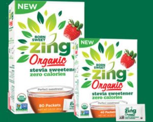 FREE Sample of Born Sweet Zing Organic Stevia Sweetener