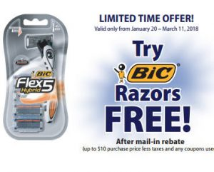 FREE BIC Disposable Razors