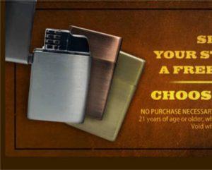 FREE Lighter from Black & Mild