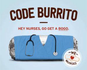 BOGO FREE for Nurses at Chipotle