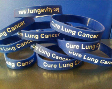 FREE LUNGevity Cure Lung Cancer Wristbands