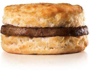 FREE Sausage Biscuit at Hardees