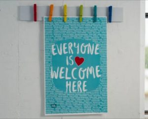FREE Everyone is Welcome Here Poster for Teachers
