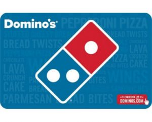FREE $5 Dominos Gift Card
