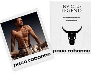 FREE Paco Rabanne Invictus Legend Cologne Scented Tattoo