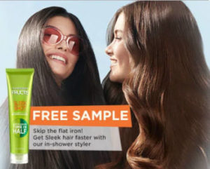 FREE Sample of Garnier Fructis Sleek Shot In-Shower Styler