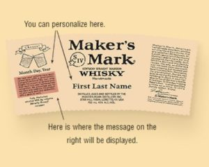 FREE Makers Mark Personalized Labels