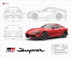 FREE 2020 Toyota GR Supra Blueprint Poster