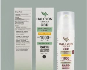 Halcyon Topicals CBD Skin & Muscle Cream