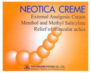 FREE Sample of Neotica Pain Relief Cream