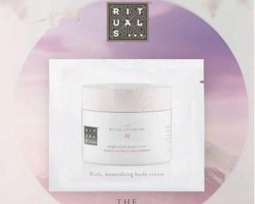 FREE Sample of Ritual of Sakura Body Cream